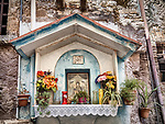 Small shrine, hilltop cities of Guidonia-Montecelio, Italy