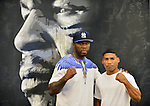 DEERFIELD BEACH, FL - JUNE 12: Curtis '50 Cent' Jackson and Yuriorkis Gamboa attends Yuriorkis 'The Cyclone of Guantanamo' Gamboa media work out at Iron Mike Productions Gym on June 12, 2014 in Deerfield Beach, Florida.  (Photo by Johnny Louis/jlnphotography.com)