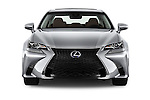 Car photography straight front view of a 2016 Lexus GS F-Sport-RWD 4 Door Sedan Front View