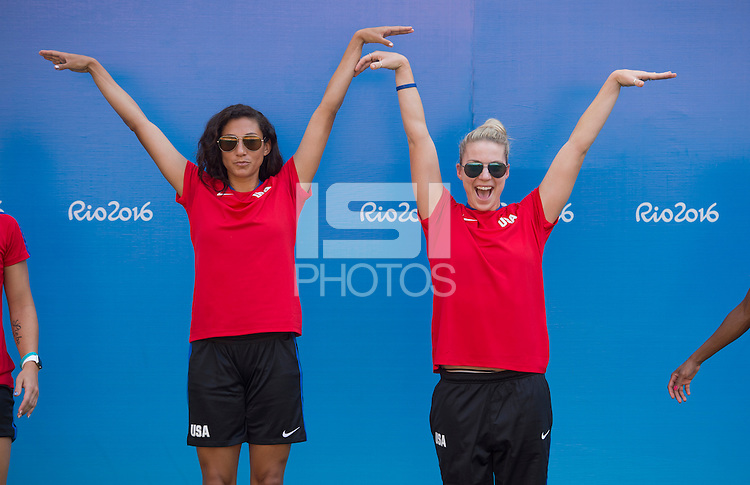 Manaus, Brazil - August 8, 2016:  The USWNT completed their stadium walkthrough during the 2016 Olympic games at Amazonia Arena.