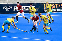 2nd February 2020; Sydney Olympic Park, Sydney, New South Wales, Australia; International FIH Field Hockey, Australia versus Great Britain; Rupert Shipperley of Great Britain evades a tackle from Tim Howard of Australia