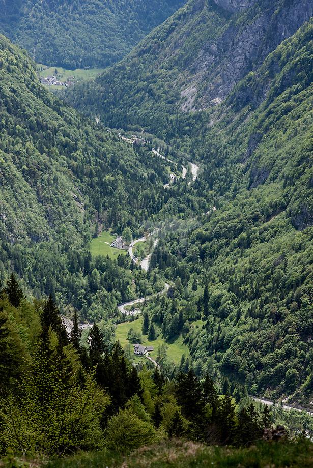 Dalen in de  Julische Alpen, Slovenië