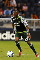 Rodney Wallace (22) defender Portland Timbers in action... Sporting Kansas City defeated Portland Timbers 3-1 at LIVESTRONG Sporting Park, Kansas City, Kansas.