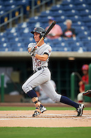 Lakeland Flying Tigers right fielder Ben Verlander (32) at bat during a game against the Clearwater Threshers on August 5, 2016 at Bright House Field in Clearwater, Florida.  Clearwater defeated Lakeland 3-2.  (Mike Janes/Four Seam Images)
