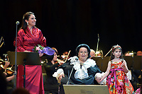 Montserrat Marti, Montserrat Caballe and her granddaughter Daniela<br /> Perfomance at State Kremlin palace, Moscow, Russia on June 06,  2018.<br /> **Not for sale in Russia or FSU**<br /> CAP/PER/EN<br /> &copy;EN/PER/Capital Pictures