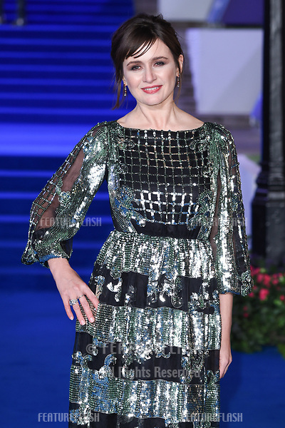 "LONDON, UK. December 12, 2018: Emily Mortimer at the UK premiere of ""Mary Poppins Returns"" at the Royal Albert Hall, London.<br /> Picture: Steve Vas/Featureflash"