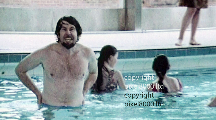 pic shows: Rolf Harris -  a BFI video on teaching<br /> kids to swim<br /> <br /> <br /> Picture by Pixel8000 07917221968