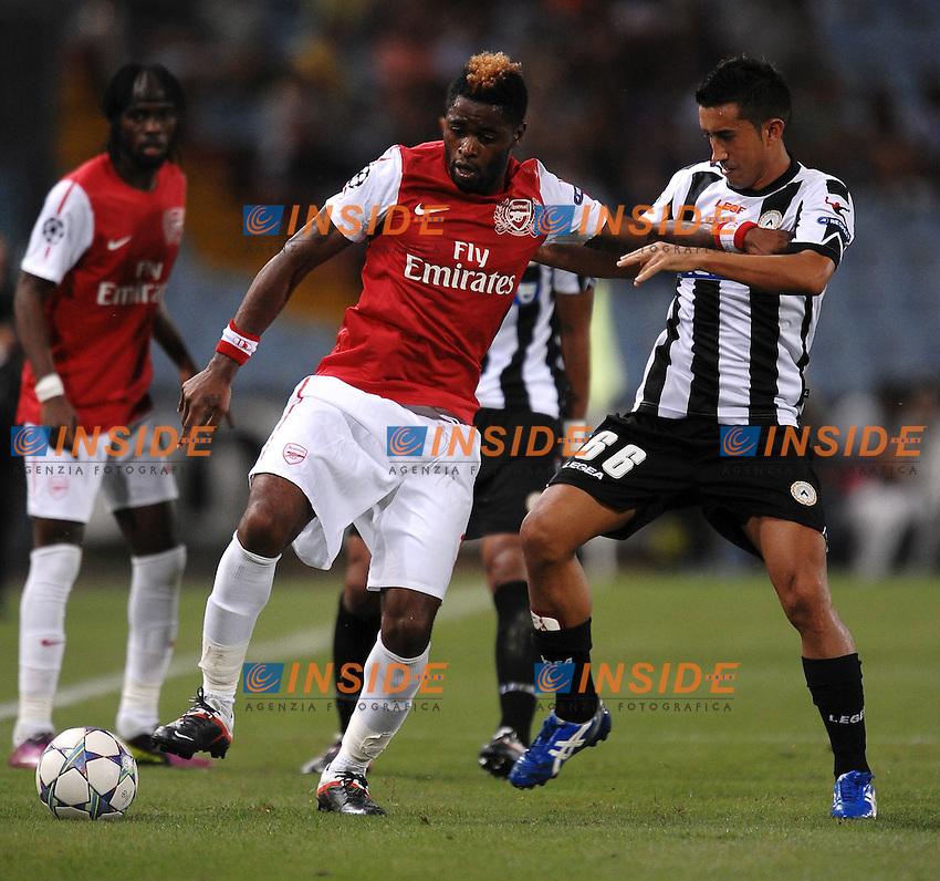 "Alex SONG Arsenal, Giampiero PINZI Udinese.Udine 24/8/2011 Stadio ""Friuli"".Football Calcio Champions League.Udinese Vs Arsenal.Foto Insidefoto Andrea Staccioli"