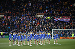 09.02.2019:Killie cheerleaders and Rangers fans