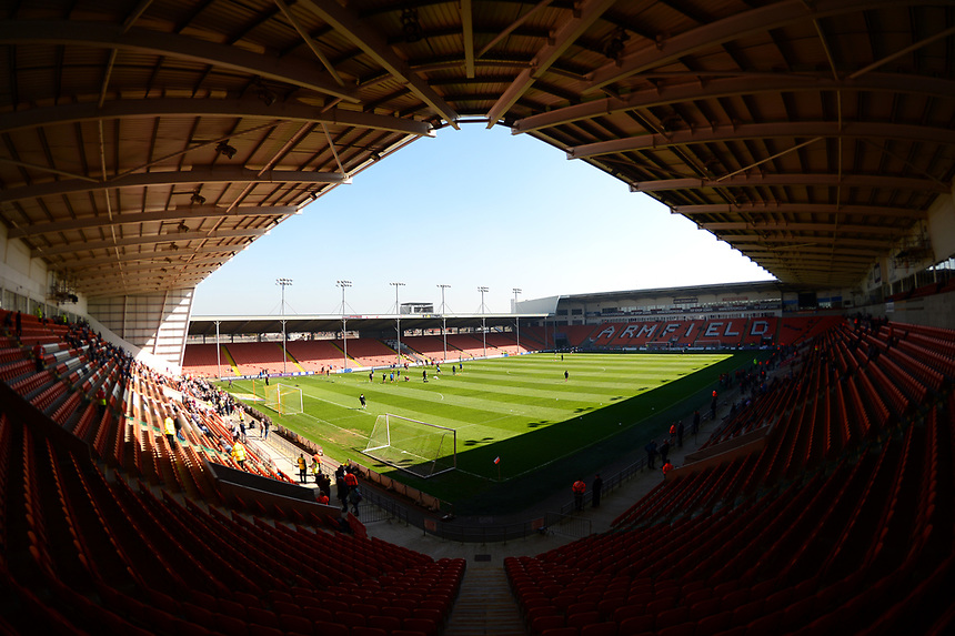 General View of Bloomfield Road<br /> <br /> Photographer Richard Martin-Roberts/CameraSport<br /> <br /> The EFL Sky Bet League Two - Blackpool v Grimsby Town - Saturday 8th April 2017 - Bloomfield Road - Blackpool<br /> <br /> World Copyright &copy; 2017 CameraSport. All rights reserved. 43 Linden Ave. Countesthorpe. Leicester. England. LE8 5PG - Tel: +44 (0) 116 277 4147 - admin@camerasport.com - www.camerasport.com