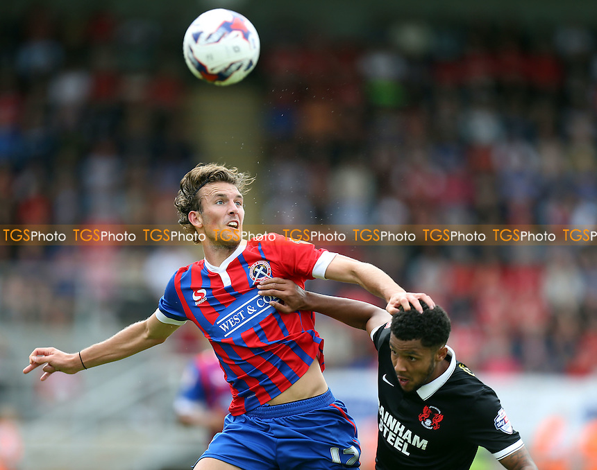 Christian Doidge of Dagenham during Dagenham and Redbridge vs Leyton Orient, Sky Bet League 2 Football at the London Borough of Barking and Dagenham Stadium, London, England on 15/08/2015