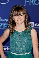 "LOS ANGELES, USA. November 08, 2019: Hadley Gannaway at the world premiere for Disney's ""Frozen 2"" at the Dolby Theatre.<br /> Picture: Paul Smith/Featureflash"