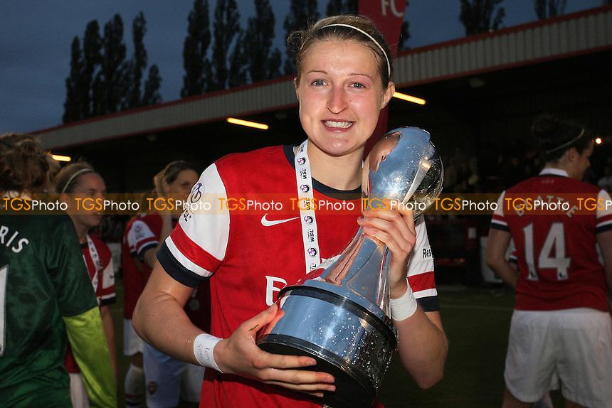 Ellen White of Arsenal celebrates winning the FAWSL Championship - Arsenal Ladies vs Doncaster Rovers Belles - FA Womens Super League Football at Boreham Wood FC - 30/09/12 - MANDATORY CREDIT: Gavin Ellis/TGSPHOTO - Self billing applies where appropriate - 0845 094 6026 - contact@tgsphoto.co.uk - NO UNPAID USE.