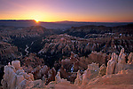 Sunrise over Bryce Canyon from Inspiration Point Bryce Canyon National Park, UTAH
