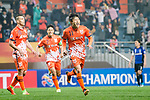 Jeju United Forward Hwang Ilsu celebrating his score during the AFC Champions League 2017 Group H match Between Jeju United FC (KOR) vs Gamba Osaka (JPN) at the Jeju World Cup Stadium on 09 May 2017 in Jeju, South Korea. Photo by Marcio Rodrigo Machado / Power Sport Images
