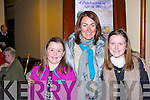 Carrie, Valarie and Alison Hickey Fossa at the Aine Nic Ghabhann memorial concert in the INEC Killarney on Friday night