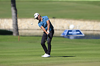 Joakim Lagergren (SWE) plays his 3rd shot on the 17th hole during Friday's Round 2 of the 2018 Turkish Airlines Open hosted by Regnum Carya Golf &amp; Spa Resort, Antalya, Turkey. 2nd November 2018.<br /> Picture: Eoin Clarke | Golffile<br /> <br /> <br /> All photos usage must carry mandatory copyright credit (&copy; Golffile | Eoin Clarke)