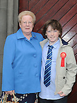 Eoghan Boyle from LeCheile school who was confirmed at St. Mary's church pictured with grandmother Angela Gallagher. Photo: Colin Bell/pressphotos.ie