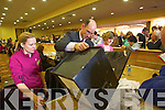 John Breen with Count Staff Margaret Gleeson and Carherine Griffin   at the North Kerry, West Limerick Election 2011 count at the Brandon Hotel Tralee on Saturday.
