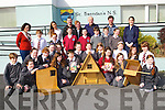 BIRDS: Pupils 3rd-4th class St Brendans NS Fenit who made some bird bioxes for the birds at their school on Wednesday wioth the pupils were Liam Doyle,John O'Sullivan, John Foley, John Moriarty (parents council),Aoife O'Connor and Caroline O'Connor (teachers) and Susan O'Donohoe (Heritage Council-Bird Watch).