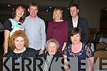 CRAIC: Having agreat craic at the Michael Denver Country & Western night in the Brandon Hotel, Conference Centre,Tralee on Friday night, Abbie and Maureen Coffey (Castlisland) and  Kay Sugrue_Griffin (Glenbeigh). back l-r: Michael and Jennifer Griffin, Loraine and James O'Shea.,
