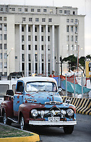 URUGUAY Montevideo, port, old Ford pick-up