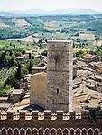 Medieval towers of San Gimignano, Siena-Tuscano, Italy