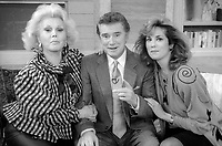 ***FILE PHOTO*** Regis Philbin Passes Away Aged 88.<br /> <br /> Zsa Zsa Gabor Regis Philbin Kathy Lee Gifford  1986<br /> <br /> CAP/MPI/PHL/AS<br /> ©AS/PHL/MPI/Capital Pictures