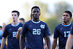 BROWNS SUMMIT, NC - SEPTEMBER 16: North Carolina's Jelani Pieters. The University of North Carolina Tar Heels hosted the Duke University Blue Devils on September 16, 2017 at Macpherson Stadium in Browns Summit, NC in a Division I college soccer game. UNC won the game 2-1.