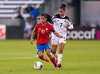 Shirley Cruz #10 of Costa Rica dribbles