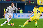 Daniel Carvajal Ramos (l) of Real Madrid competes for the ball with Jaume Vicent Costa Jordá of Villarreal CF during their La Liga match between Villarreal CF and Real Madrid at the Estadio de la Cerámica on 26 February 2017 in Villarreal, Spain. Photo by Maria Jose Segovia Carmona / Power Sport Images