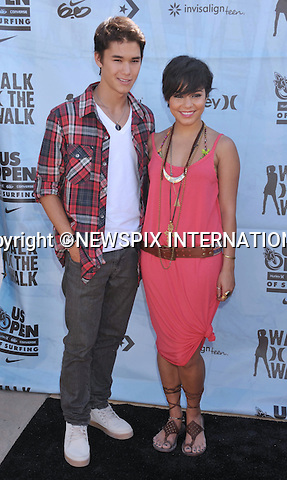 """VANESSA HUDGENS AND BOOBOO STEWART.attends the Hurley Walk The Walk 2011 National Championship held at Huntington Beach Pier, Huntington Beach, California_04/08/2011.Mandatory Photo Credit: ©Crosby/Newspix International. .**ALL FEES PAYABLE TO: """"NEWSPIX INTERNATIONAL""""**..PHOTO CREDIT MANDATORY!!: NEWSPIX INTERNATIONAL(Failure to credit will incur a surcharge of 100% of reproduction fees).IMMEDIATE CONFIRMATION OF USAGE REQUIRED:.Newspix International, 31 Chinnery Hill, Bishop's Stortford, ENGLAND CM23 3PS.Tel:+441279 324672  ; Fax: +441279656877.Mobile:  0777568 1153.e-mail: info@newspixinternational.co.uk"""