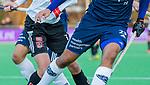 AMSTELVEEN - reclame, advertising, kleding, sponsoren, sponsor,   tijdens de competitie hoofdklasse hockeywedstrijd heren, Pinoke-Amsterdam (1-1)   COPYRIGHT KOEN SUYK