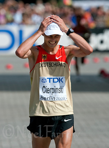 22 AUG 2009 - BERLIN, GER - Falk Cierpinski (GER) - Marathon - World Athletics Championships (PHOTO (C) NIGEL FARROW)