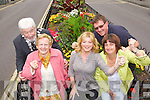 Members of the Tidy Tralee Together Commitee Mayor Johnny Wall, Mary O'Brien, Gillian Wharton Slattery, Brendan O'Brien and Anne Connolly celebrate after Tralee won a gold medal in the national Tidy Towns Awards on Monday.