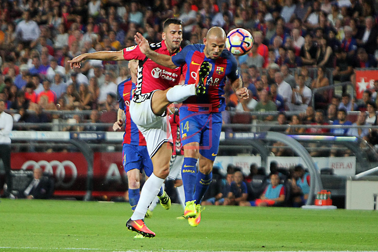 League Santander 2016/2017. Game: 3.<br /> FC Barcelona vs Deportivo Alaves: 1-2.<br /> Edgar vs Mascherano.