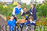 FOOD FOR THOUGHT: The residents of Bruach na hAbhann youth and community presenting Ronan Doherty of Arlington Lodge with fruit and veg grown at Moyderwll allotments on Saturday front l-r: Sam Donovan and Jordan O'Shea. Back l-r:Dillon O'Connor, Ronan Doherty and Kelly Donovan.