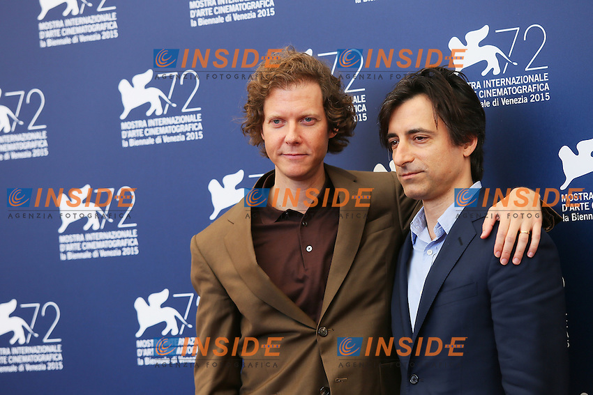 VENICE, ITALY - SEPTEMBER 09: Jake Paltrow and Noah Baumbach attend 'The Wait' Photocall during 72nd Venice Film Festival at Palazzo Del Cinema on September 9, 2015 in Venice, Italy. (Mark Cape/insidefoto)