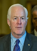 United States Senator John Cornyn (Republican of Texas)  speaks to reporters following the Republican Party luncheon in the United States Capitol in Washington, DC on Tuesday, July 11, 2017.  <br /> Credit: Ron Sachs / CNP /MediaPunch