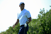 Tiger Woods (USA) during the first round of  The Northern Trust, Liberty National Golf Club, Jersey City, New Jersey, USA. 08/08/2019.<br /> Picture Michael Cohen / Golffile.ie<br /> <br /> All photo usage must carry mandatory copyright credit (© Golffile | Michael Cohen)