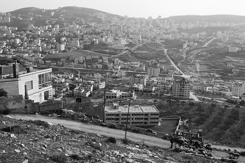 The city of Nablus, the occupied West Bank, February 2006. Photo: Ed Giles.