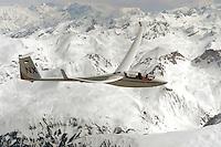 Segelflug, Segelflugzeug, ASH 25 EB, NX, Doppelsitzer, Offene Klasse, NX, Ulrich Knauss, Südfrankreich, Frankreich, Seealpen, Barcelonnette