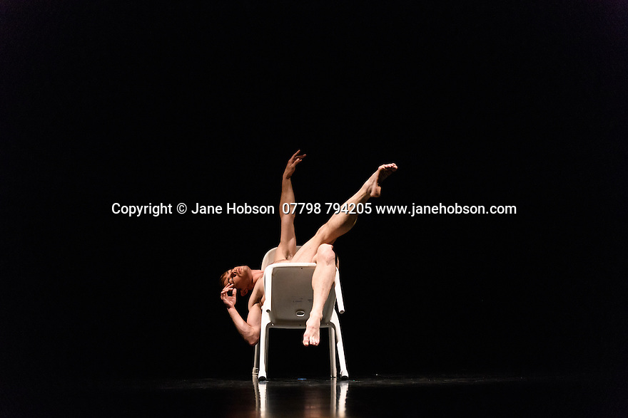 """Glasgow, UK. 28.09.16. Scottish Ballet presents the World Premiere of """"Drawn to Drone"""", choreographed by  Jack Webb, at the Theatre Royal Glasgow, as part of their Autumn Season 2016, in a programme which also includes Crystal Pite's """"Emergence"""", and Sophie Laplane's """"Sibilo"""". Picture shows: Christopher Harrison. Photograph © Jane Hobson."""