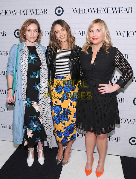 NEW YORK, NEW YORK - JANUARY 27:  Co-founders of Who What Wear Hillary Kerr and Katherine Power along with Jessica Alba.attend Target  Who What Wear launch party at ArtBeam on January 27, 2016 in New York City. <br /> CAP/MPI/STV<br /> &copy;STV/MPI/Capital Pictures