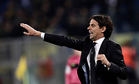Calcio, Serie A: SS Lazio vs Hellas Verona, Roma, stadio Olimpico, 19 febbraio 2018.<br /> Lazio's coach Simone Inzaghi speaks to his players during the Italian Serie A football match between SS Lazio and Hellas Verona at Rome's Olympic stadium, February 19, 2018.<br /> UPDATE IMAGES PRESS/Isabella Bonotto