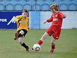 Grove Rangers Karl Martin Duleek Allstars Jack Hynes. Photo: Colin Bell/pressphotos.ie