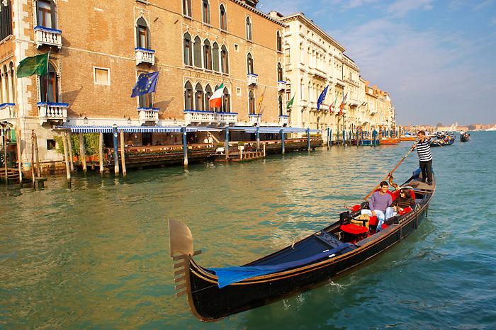 Gondolas on the Grand Canal - Venice - Italy