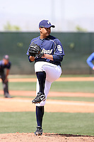 Ernesto Frieri, San Diego Padres 2010 minor league spring training..Photo by:  Bill Mitchell/Four Seam Images.