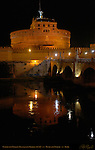 Castle San Angelo at night Castel sant'Angelo Mausoleum of Hadrian 139 AD Ponte sant'Angelo Rome