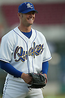 Rich Thompson of the Rancho Cucamonga Quakes before a 2004 season California League game at The Epicenter in Rancho Cucamonga, California. (Larry Goren/Four Seam Images)
